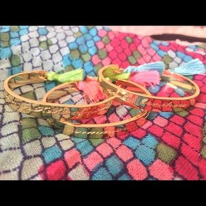 Lilly Pulitzer Bright Tassels & Gold Idiom Cuffs